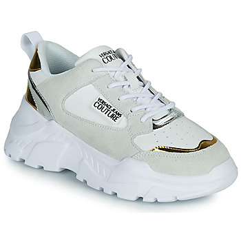 Scarpe Donna Sneakers basse Versace Jeans Couture FREMMI Bianco / Dore / Argento