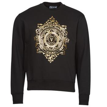 Abbigliamento Uomo Felpe Versace Jeans Couture VEMBLEM LEAF Nero / Oro