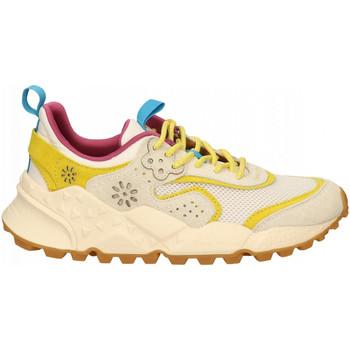 Scarpe Donna Sneakers Flower Mountain KOTETSU white-yellow
