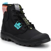 Scarpe Sneakers alte Palladium Manufacture Lite OVB Neon U 77082-008 black