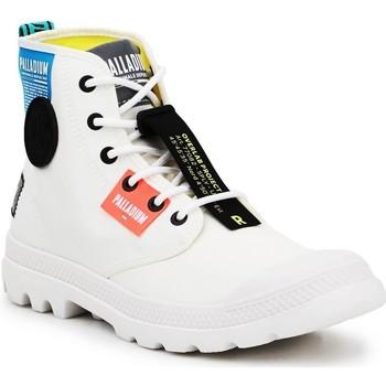 Scarpe Sneakers alte Palladium Manufacture Lite OVB Neon U 77082-116 white