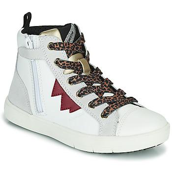 Scarpe Bambina Sneakers alte Geox SILENEX Bianco