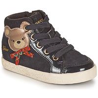 Scarpe Bambina Sneakers alte Geox KILWI Nero