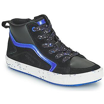 Scarpe Bambino Sneakers alte Geox ALONISSO Nero / Marine