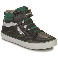Scarpe Bambino Sneakers alte Geox GISL Nero / Verde