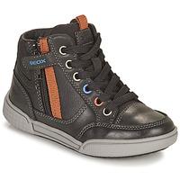 Scarpe Bambino Sneakers alte Geox POSEIDO Marrone