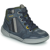 Scarpe Bambino Sneakers alte Geox POSEIDO Marine / Verde