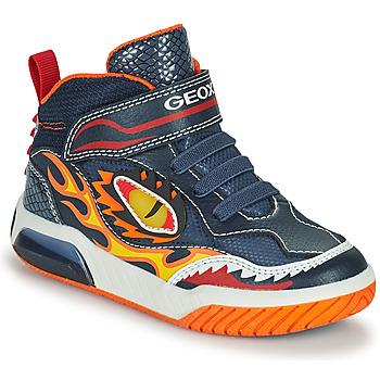 Scarpe Bambino Sneakers alte Geox INEK Marine / Rosso