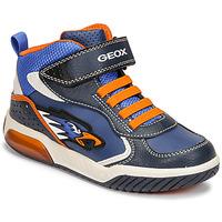 Scarpe Bambino Sneakers alte Geox INEK Blu / Arancio
