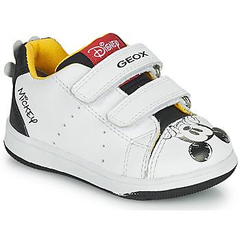 Scarpe Bambino Sneakers basse Geox NEW FLICK Bianco / Nero / Rosso