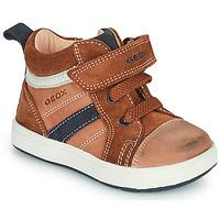 Scarpe Bambino Sneakers alte Geox BIGLIA Marrone