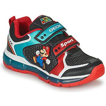Scarpe Bambino Sneakers basse Geox ANDROID Nero / Blu / Rosso