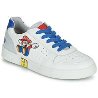 Scarpe Bambino Sneakers basse Geox DJROCK Bianco / Blu