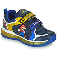 Scarpe Bambino Sneakers basse Geox ANDROID Blu / Giallo