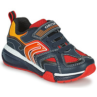 Scarpe Bambino Sneakers basse Geox BAYONYC Marine / Arancio