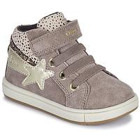 Scarpe Bambina Sneakers alte Geox TROTTOLA Beige