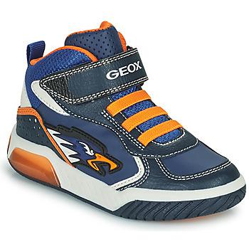 Scarpe Bambino Sneakers alte Geox INEK Marine / Arancio
