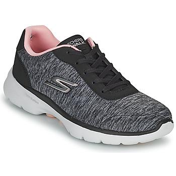 Scarpe Donna Sneakers basse Skechers GO WALK 6 Grigio / Rosa