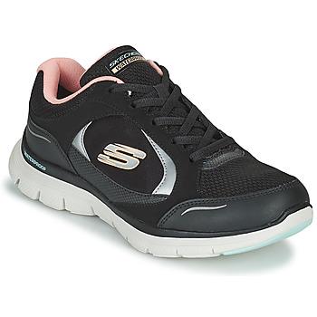 Scarpe Donna Sneakers basse Skechers FLEX APPEAL 4.0 Nero / Rosa