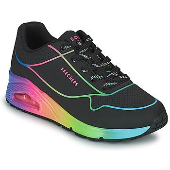 Scarpe Donna Sneakers basse Skechers UNO Nero / Multicolore