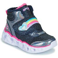 Scarpe Bambina Sneakers alte Skechers HEART LIGHTS Marine