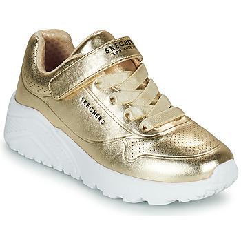 Scarpe Bambina Sneakers basse Skechers UNO LITE Oro