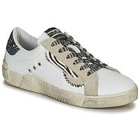 Scarpe Donna Sneakers basse Meline  Bianco / Glitter / Blu