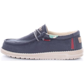 Scarpe Uomo Mocassini Hey Dude WALLY WASHED Blu