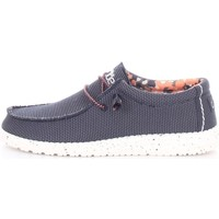 Scarpe Uomo Mocassini Hey Dude WALLY SOX Blu