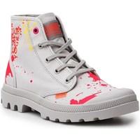 Scarpe Donna Sneakers alte Palladium Manufacture Pampa HI Explore Vegan Rosso, Grigio