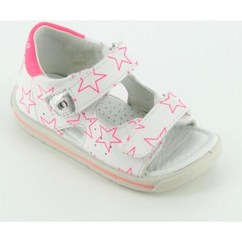 Scarpe Bambina Sandali Falcotto ARIEL sandalo stelle Bianco