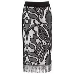 Abbigliamento Donna Gonne Café Noir CafèNoir Gonna Nero-Bianco Multicolore