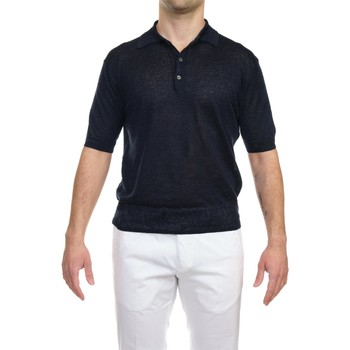 Abbigliamento Uomo Polo maniche corte Hosio 21106M11/01 Polo Uomo Uomo Blu Scuro Blu Scuro