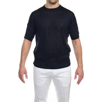 Abbigliamento Uomo T-shirt maniche corte Hosio 21106M32/01 T-shirt Uomo Uomo Blu Scuro Blu Scuro