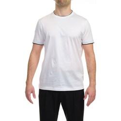Abbigliamento Uomo T-shirt maniche corte Alessandro Dell'acqua AD959R/T1732/10 T-shirt Uomo Uomo Bianco Bianco