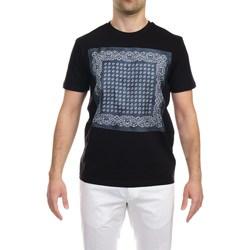 Abbigliamento Uomo T-shirt maniche corte Hosio 210J55/V4 BLU T-shirt Uomo Uomo Nero Nero