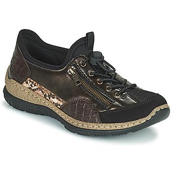 Scarpe Donna Sneakers basse Rieker ALINDA Bronzo / Nero