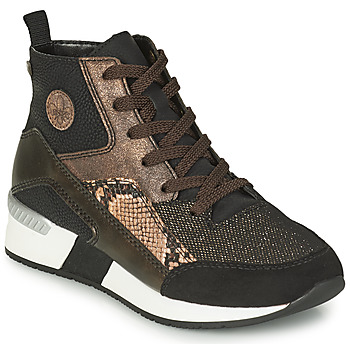 Scarpe Donna Sneakers alte Rieker MANKA Nero / Marrone