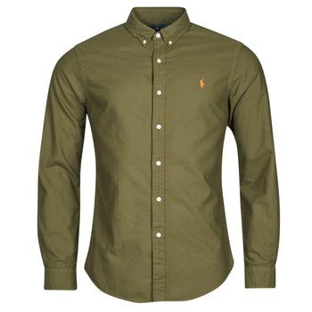 Abbigliamento Uomo Camicie maniche lunghe Polo Ralph Lauren DRISSY Kaki