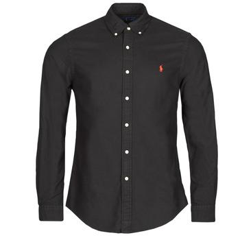 Abbigliamento Uomo Camicie maniche lunghe Polo Ralph Lauren CAMISETA Nero
