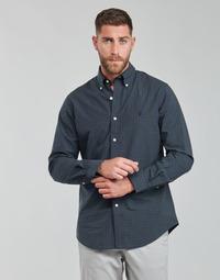 Abbigliamento Uomo Camicie maniche lunghe Polo Ralph Lauren RENIMA Verde / Blu