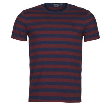 Abbigliamento Uomo T-shirt maniche corte Polo Ralph Lauren POLINE Marine / Bordeaux