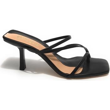 Scarpe Donna Derby & Richelieu Gold&gold Scarpe donna sandalo  TC 80 ecopelle nero DS21GG23