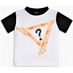 Abbigliamento Bambino T-shirt maniche corte Guess I1RI00K8HM0 TWHT Bianco