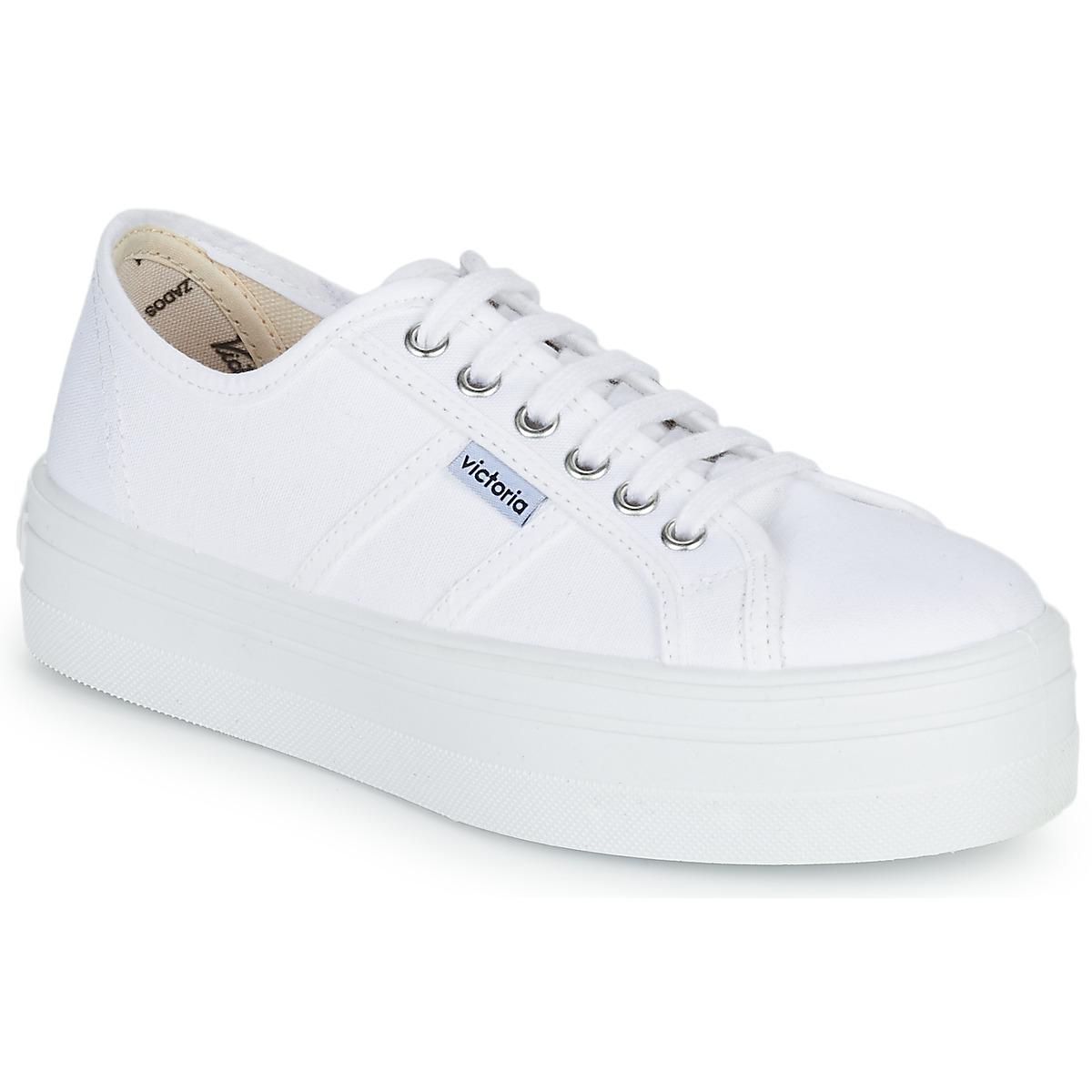 Victoria Sneakers basse BLUCHER LONA PLATAFORMA spartoo-shoes beige Sportivo Finishline Venta En Línea hgRgbwI