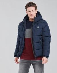 Abbigliamento Uomo Piumini Superdry HOODED SPORTS PUFFER Blu