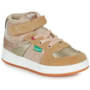 Scarpe Bambina Sneakers alte Kickers BILBON MID Beige