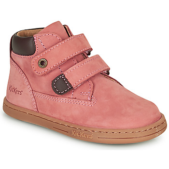 Scarpe Bambina Stivaletti Kickers TACKEASY Rosa
