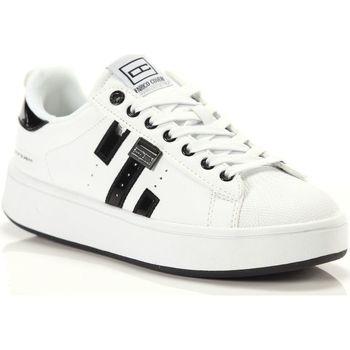 Scarpe Donna Sneakers basse Enrico Coveri Gemma Mix Patent Black Bianco