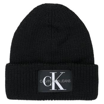 Accessori Donna Berretti Calvin Klein Jeans MONOGRAM BEANIE WL Nero